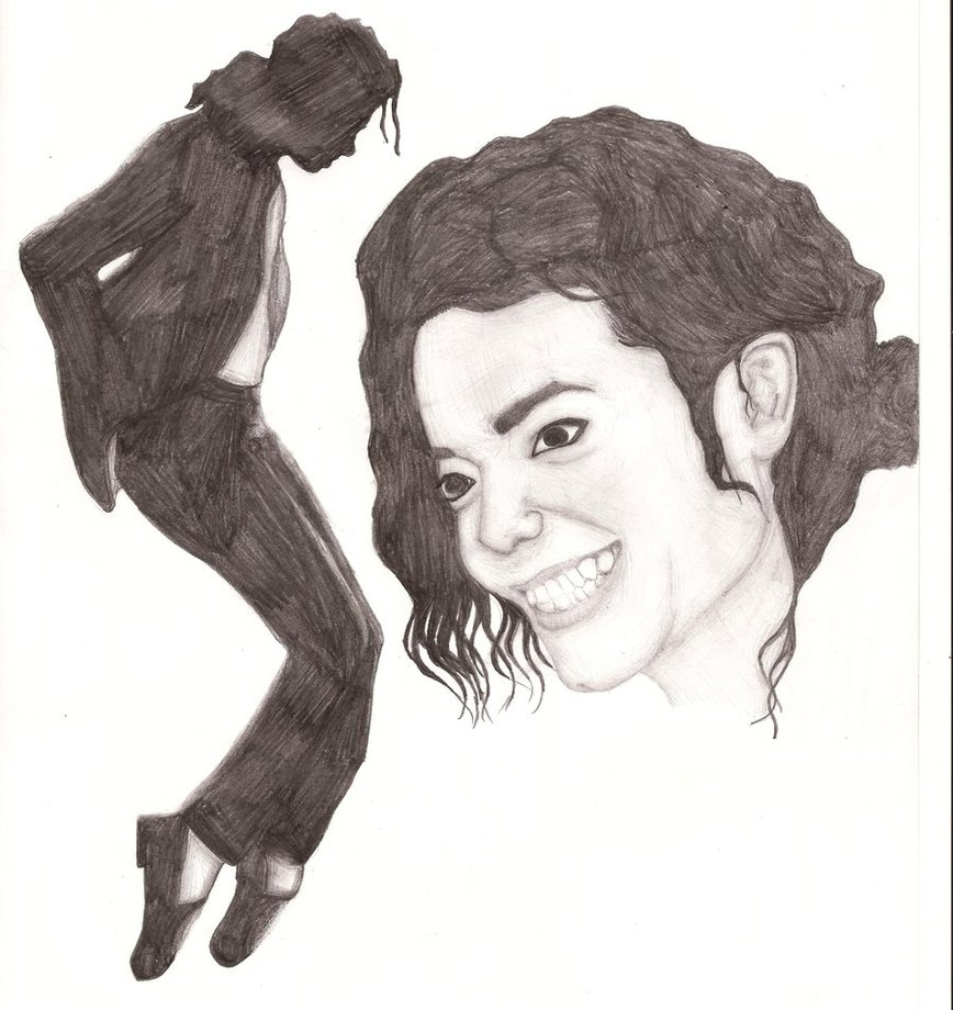 868x920 Michael Jackson Pencil Sketch