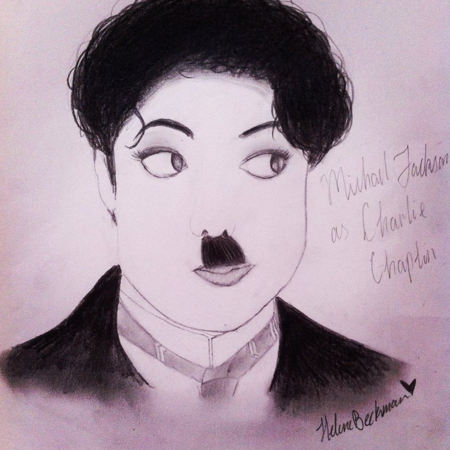 894x894 Drawing Of Michael Jackson As Charlie Chaplin By Helenemjlover