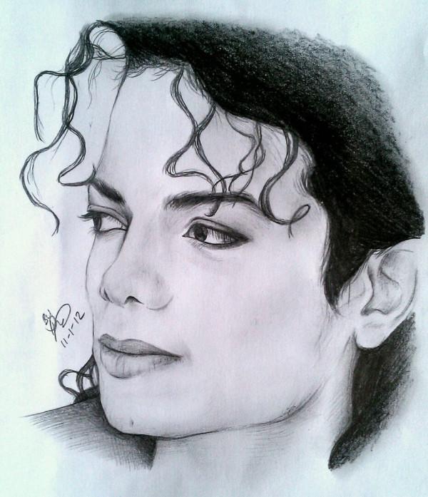 600x697 Art, Drawing, Michael Jackson