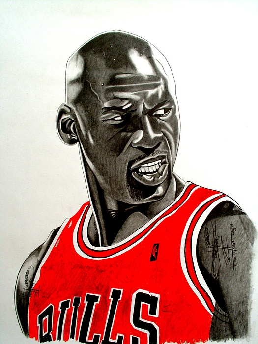 525x700 Air Jordan Raging Bull Drawing Drawing By Keeyonardo