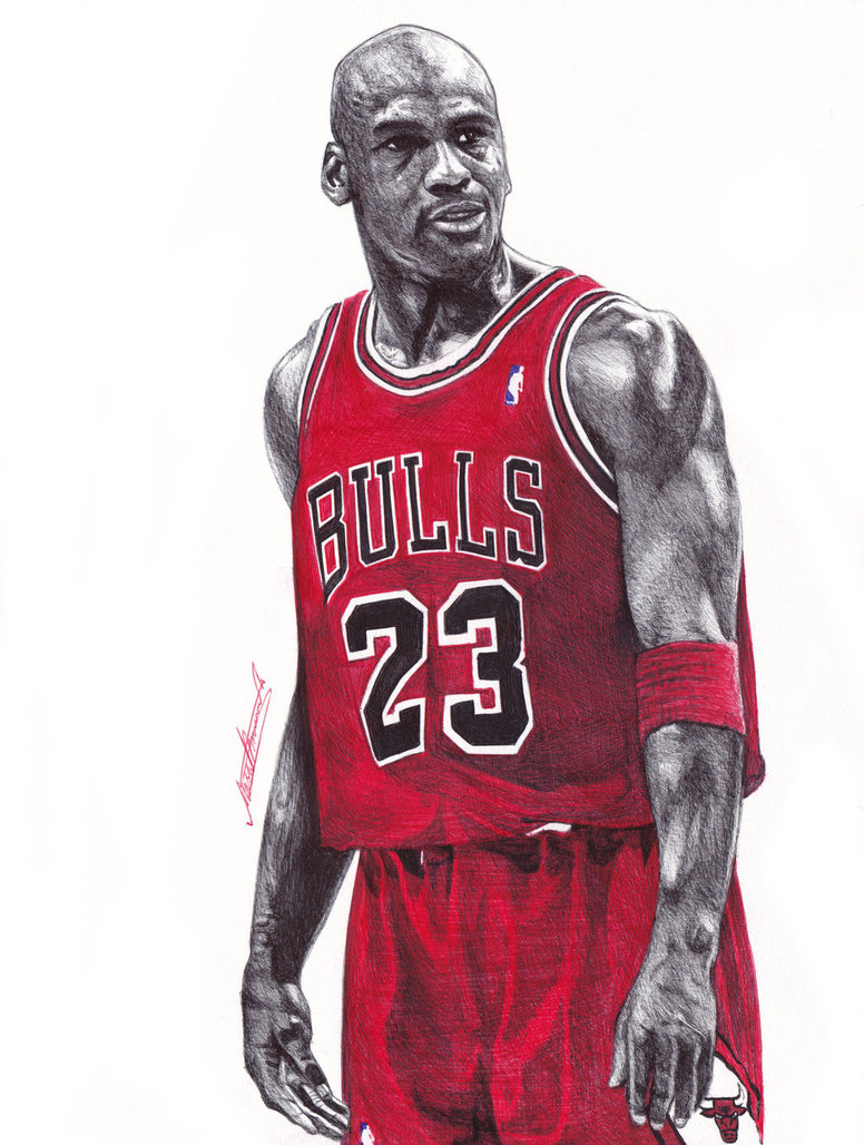 776x1028 Michael Jordan Ballpoint Pen Drawing By Demoose21