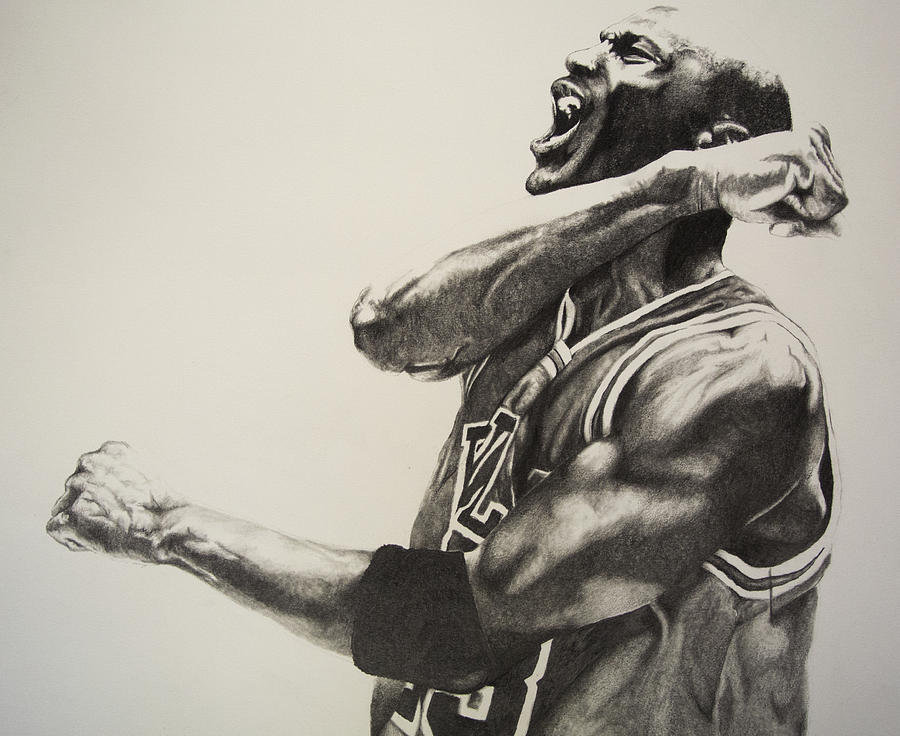 900x736 Michael Jordan Drawing By Jake Stapleton