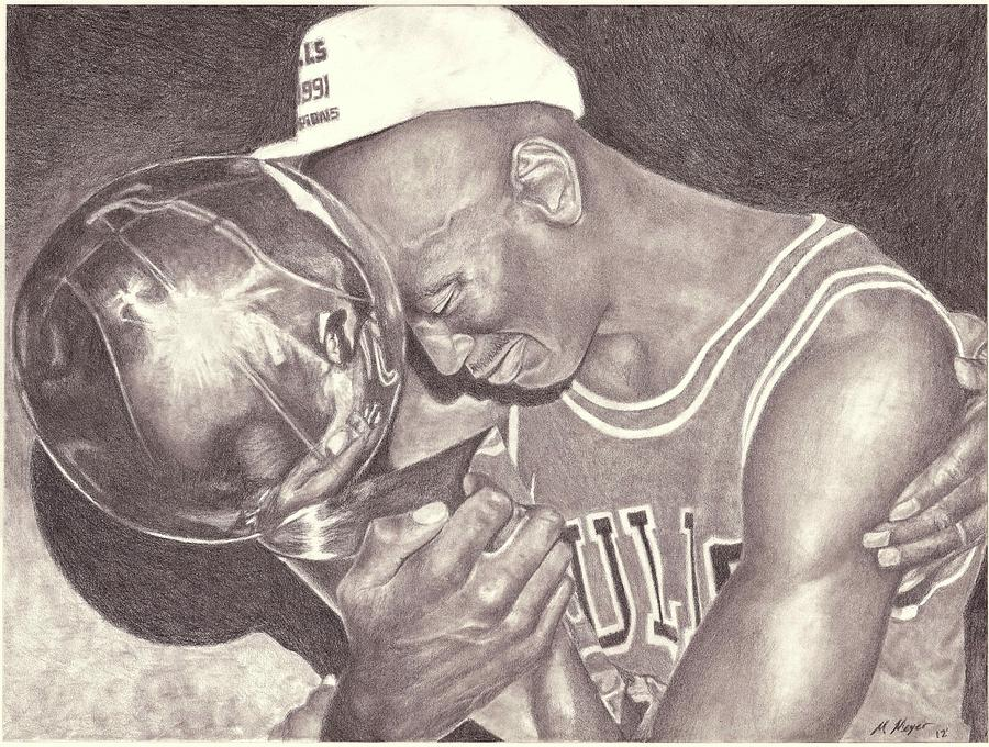 900x680 Michael Jordan Portrait Drawing Drawing By Matt Meyer