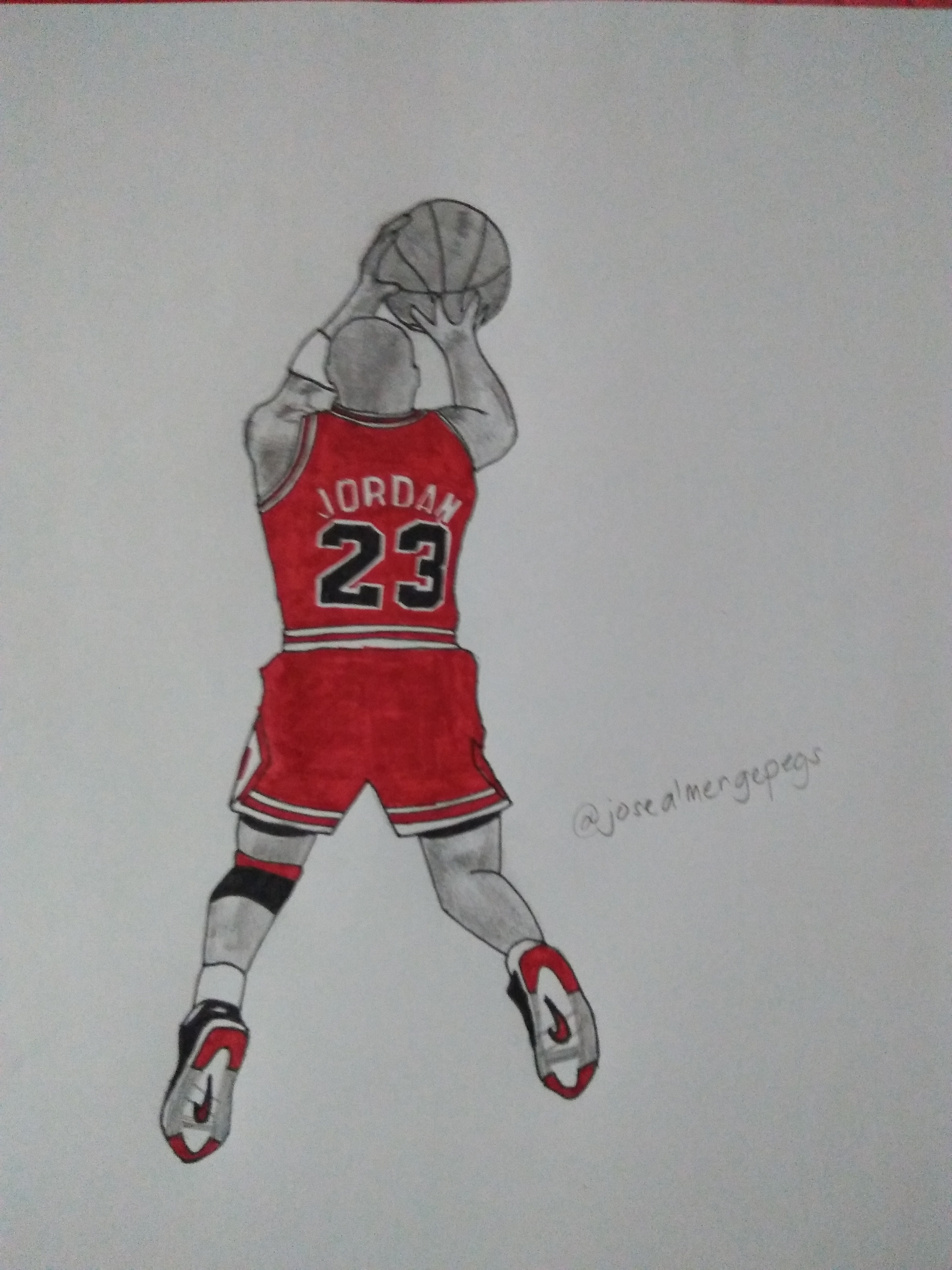 2448x3264 My Drawing On Michael Jordan. Steemit