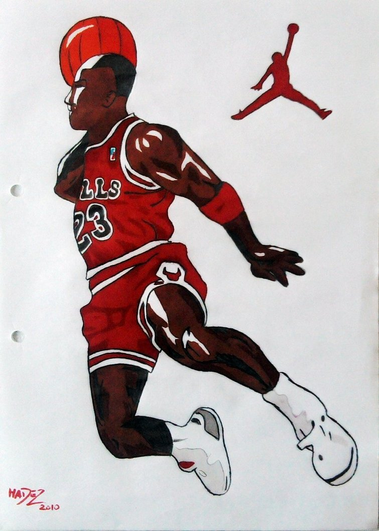 755x1058 Michael Jordan Drawing By Dan Hadez