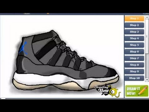 480x360 How To Draw Air Jordan Space Jam Shoes