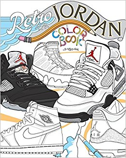 260x325 Retro Air Jordan Shoes A Detailed Coloring Book For Adults