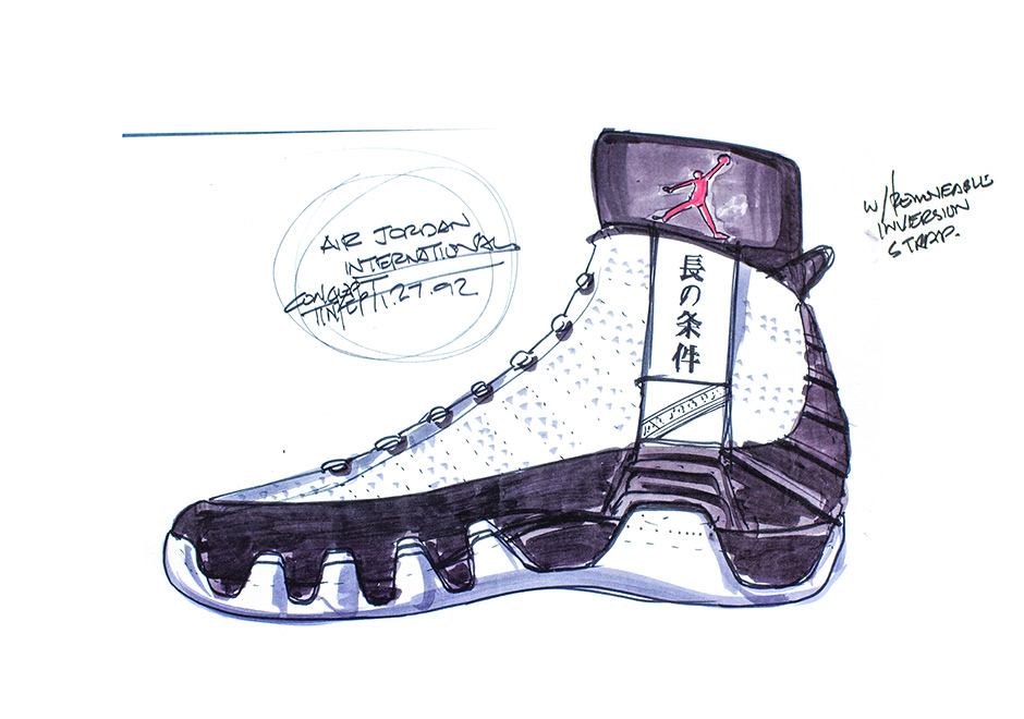 940x660 This Early Sketch Of The Air Jordan 9 Reveals Something Much