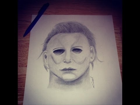 480x360 Drawing Michael Myers Happy Halloween!