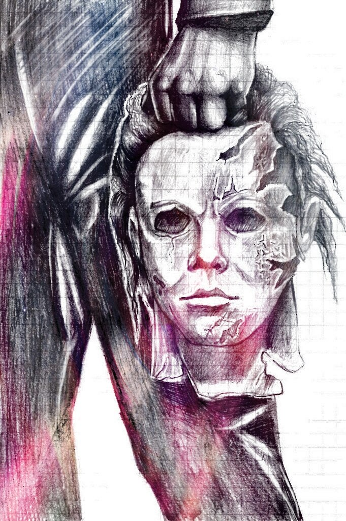 1280x720 Drawing Time Lapse Michael Myers 681x1024 Halloween Remake