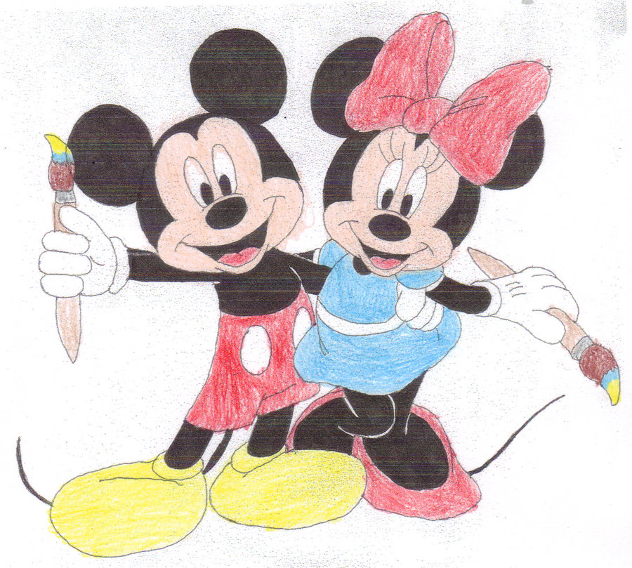 900x809 Epic Mickey and Epic Minnie by SquadUnit19 on DeviantArt