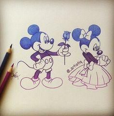236x240 Mickey and Minnie by SAkURA JOkER on DeviantArt Disney Mickey