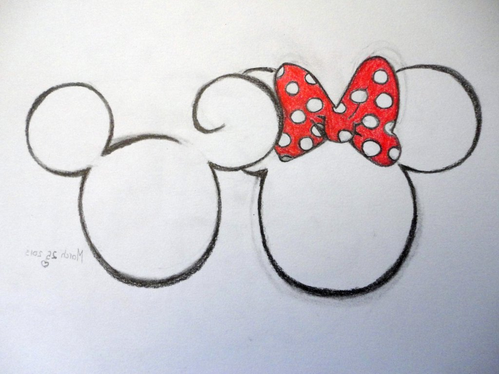 1024x768 Minnie And Mickey Drawing How To Draw Mickey And Minnie Kissing