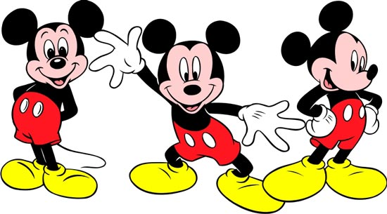 550x305 Disney Cartoon Vector Cliparts