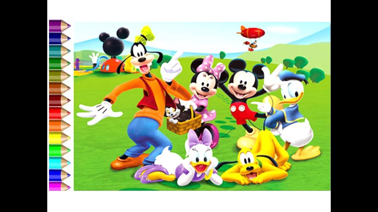 1280x720 Learn How To Draw Mickey Mouse And Friends Video