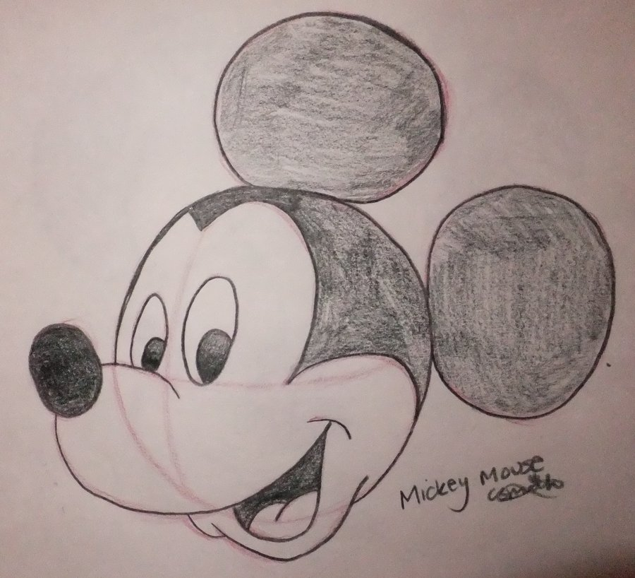 900x818 Mickey Mouse Drawing By Chloesmith8