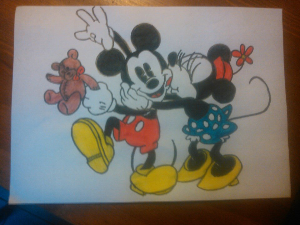 960x720 Mickey And Minnie Mouse Drawing By Liesannevanede