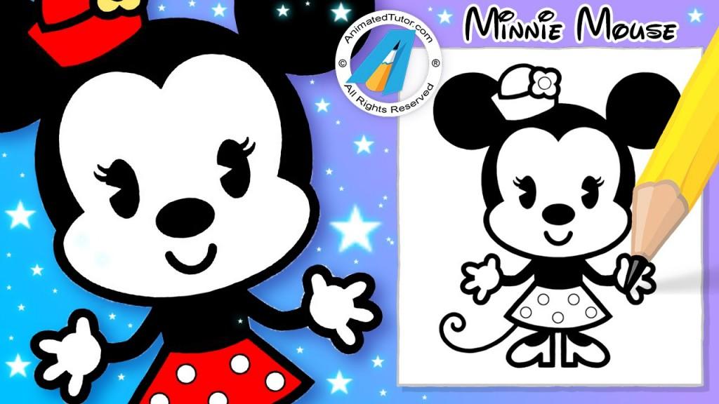 1024x576 Nail Art Draw Cute Minnie Mouse Chibi Kawaii Cute And Easy Disney