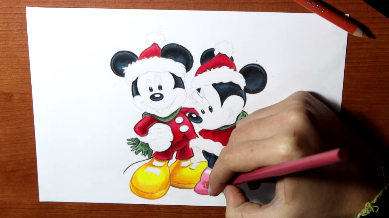 1280x720 Drawing Mickey Mouse And Minnie
