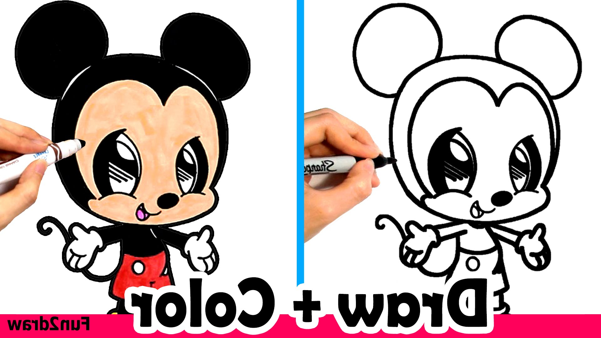 1920x1080 How To Draw Mickey Mouse Cute + Easy And Color Crayola