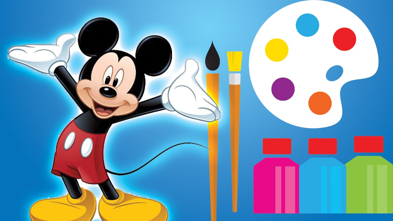 1280x720 Mickey Mouse Drawing Animation How To Draw Characters