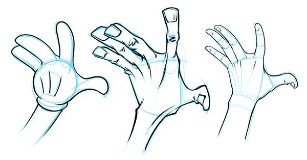 600x314 How to Draw Cartoon Hands