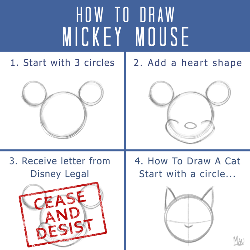 800x800 How to Draw Mickey Mouse