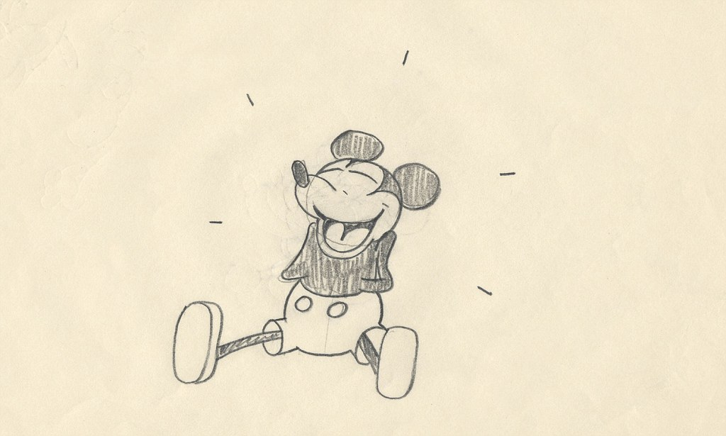 1024x615 Rare 1928 original drawing of Mickey Mouse goes on display in