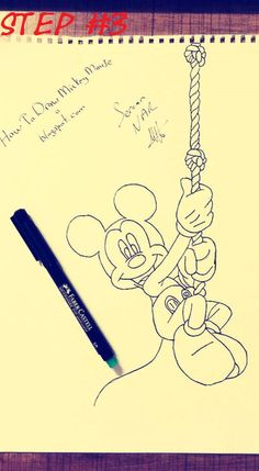 236x429 Are You Ready To Draw Mickey Mouseeasy Mickey Mouse Drawing Step