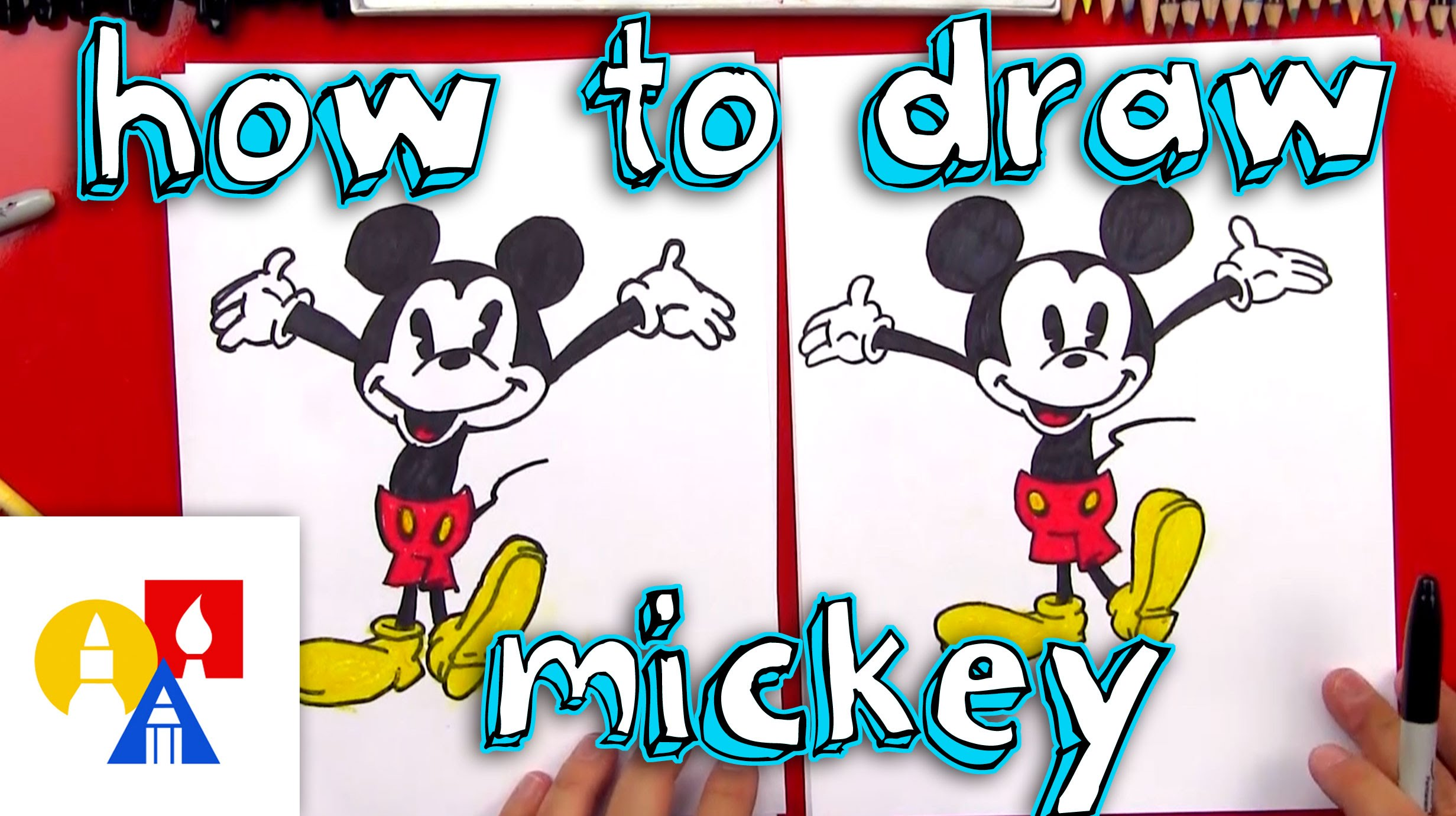 2463x1381 How To Draw Mickey Mouse + New Art Giveaway!