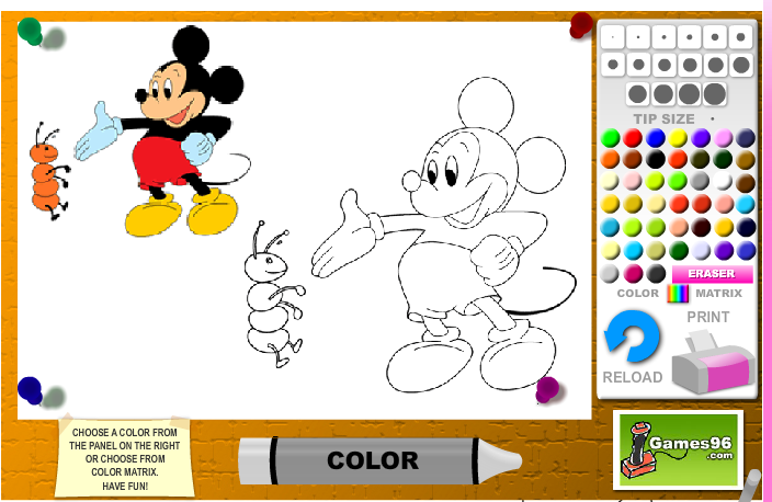 704x458 Mickey Mouse Coloring Pages Drawing For Kids Crafts And Color
