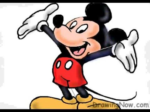 480x360 Drawing How To Draw Mickey Mouse Step By Step For Kids Youtube