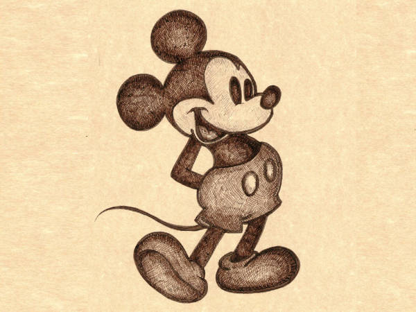 600x450 Mickey Mouse Drawings