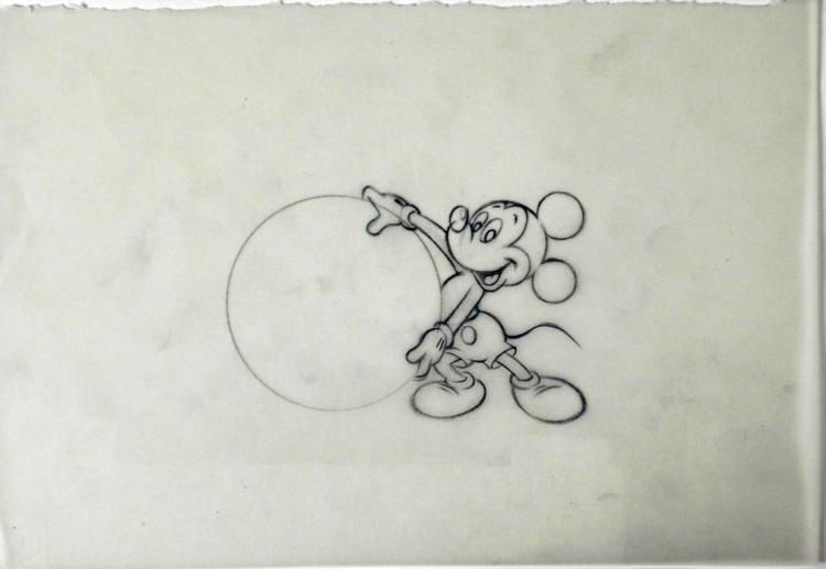 750x517 Original Drawing Disney Mickey Mouse Animation Big Ball