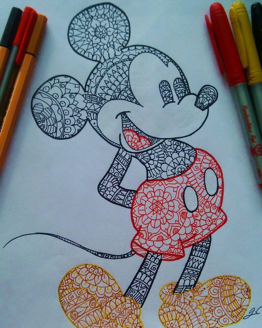 1039x1299 Mickey Mouse Pintado Con Mandalas Fondos De Pantalla