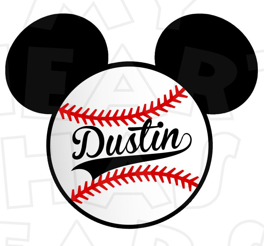 900x838 Mickey Mouse Baseball Personalized Digital Clip Art Image My