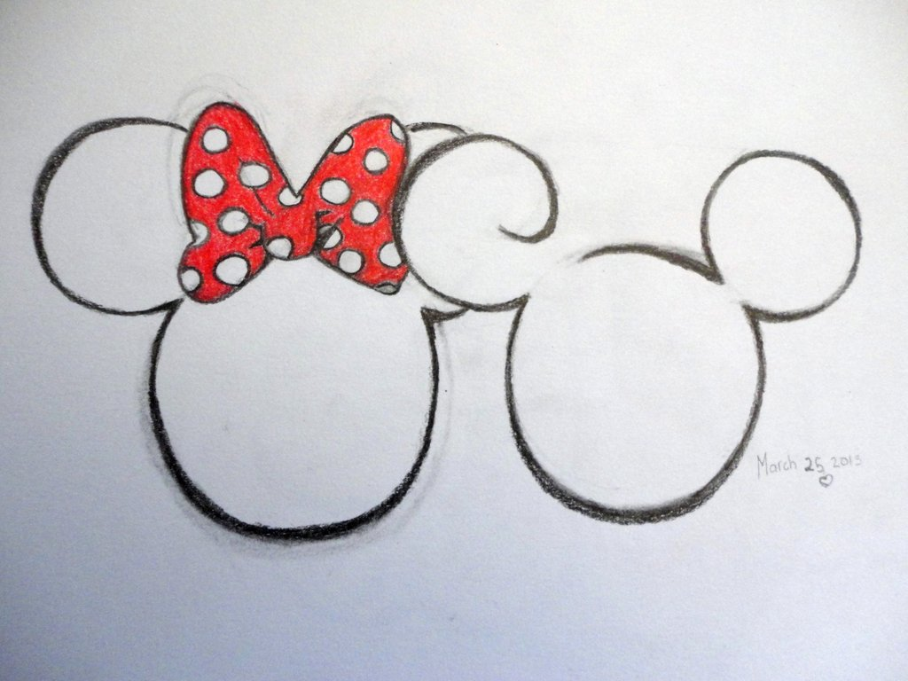 1024x768 Minnie And Mickey Mouse Drawings Pictures Of Minnie And Mickey