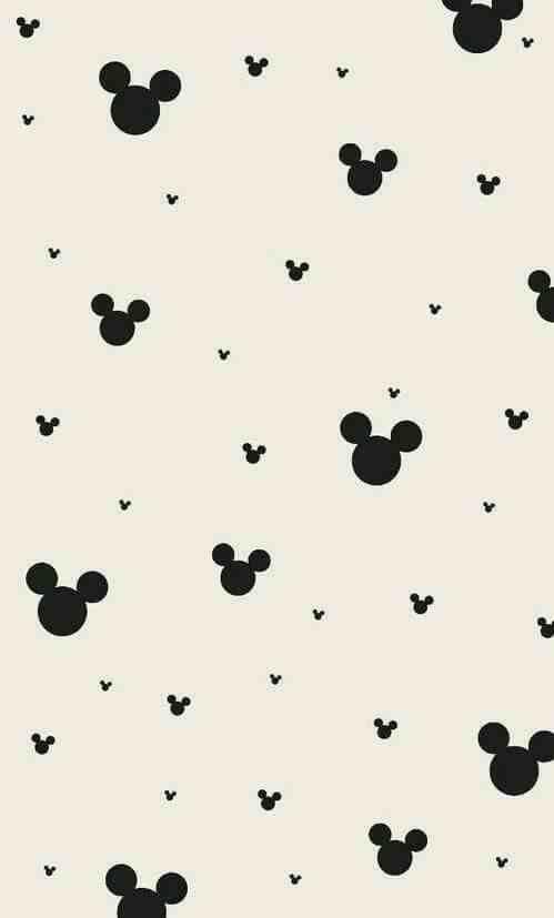 499x827 Wallpapers Mickey Mouse Ears Cute Sweet Pattern Print Disney