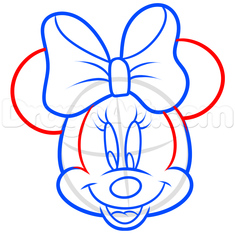 786x784 How To Draw Minnie Mouse Easy Step 5 How To Draw