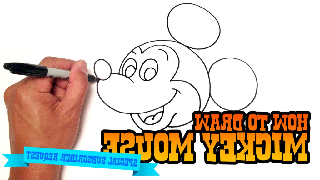 1024x576 Easy Drawing Of Mickey Mouse How To Draw Mickey Mouse Step Step