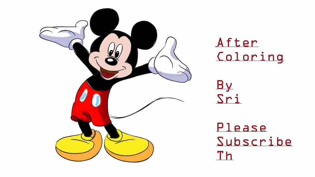1280x720 Step By Step Mickey Mouse Drawing How To Draw Mickey Mouse