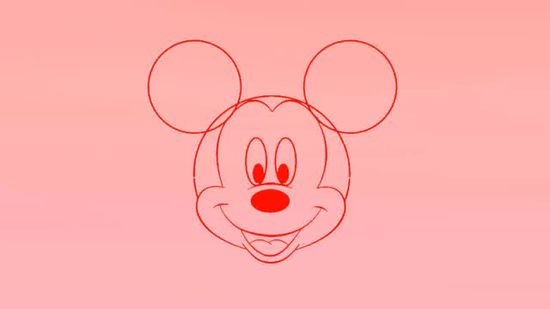 550x309 3 Ways To Draw Mickey Mouse Step By Step
