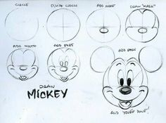 236x175 Easy Pics Draw How Draw Mickey Mouse's Head Projects