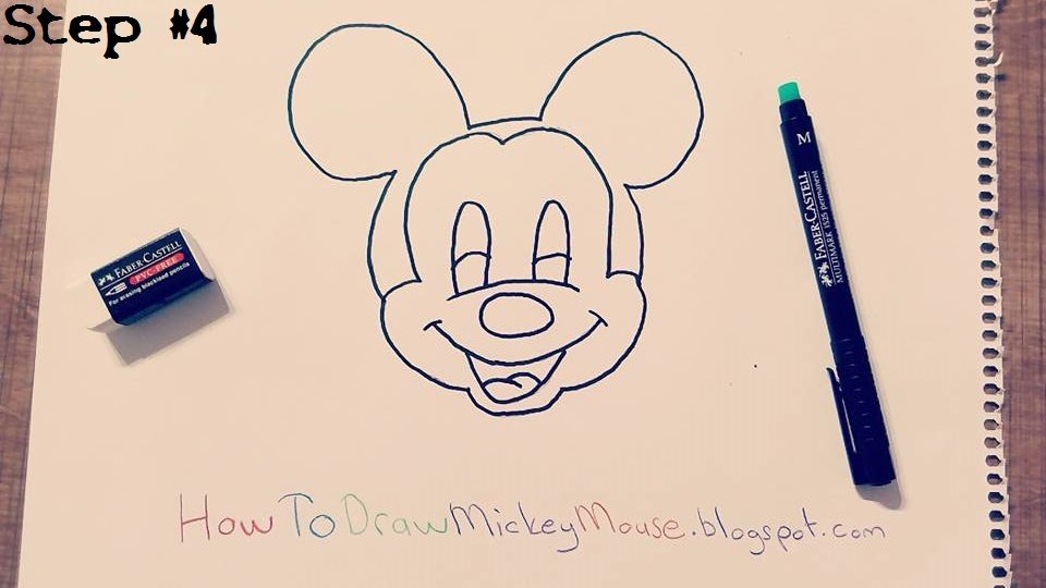 960x540 How To Draw Mickey Mouse Face Easy Step By Step Easy Mickey