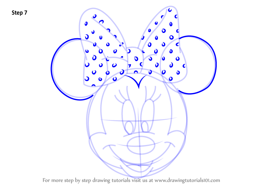 844x598 Learn How To Draw Minnie Mouse Face From Mickey Mouse Clubhouse