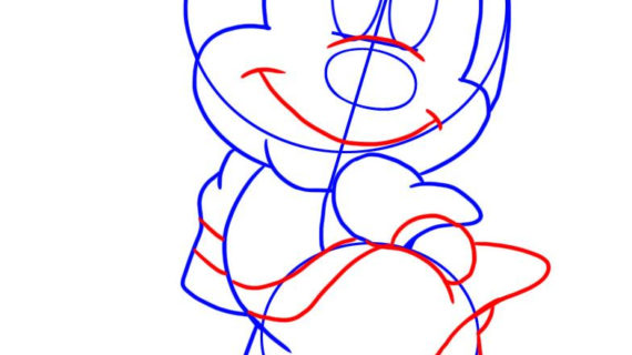 570x320 Minnie Mouse Face Drawing Mickey Mouse Coloring Pages