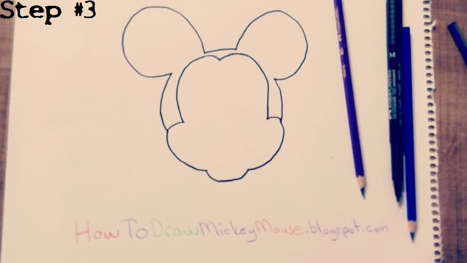 960x540 Coloring Pages Mickey Mouse Outline Drawing Para Y Large Head