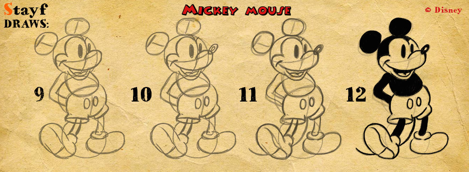 966x354 Creative Cave Publishershow To Draw Mickey Mouse
