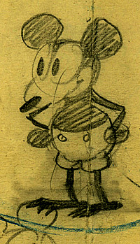 200x349 First Sketches (Detail) Of Walt Disney That Will Give Life