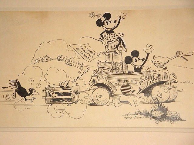 640x480 Ink On Paper Publicity Drawing For A 1930 Mickey Mouse Cartoon